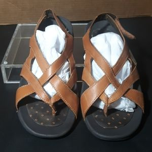 Lands end leather traction sandals